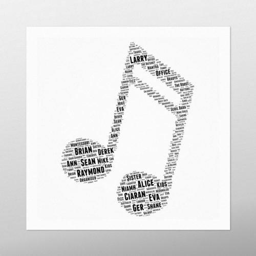 Musical Note | wordbird.ie | Word Art Ideas