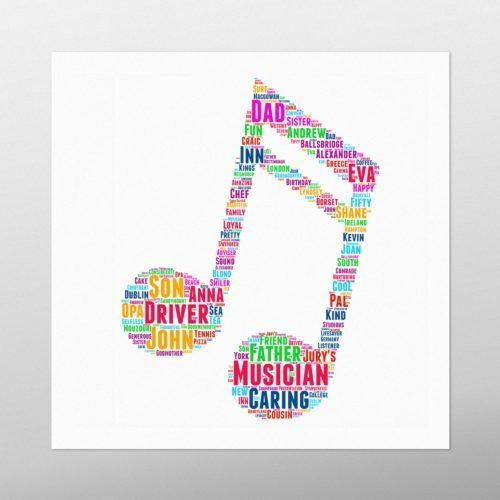 Musical Note | wordbird.ie | Word Art Ideas