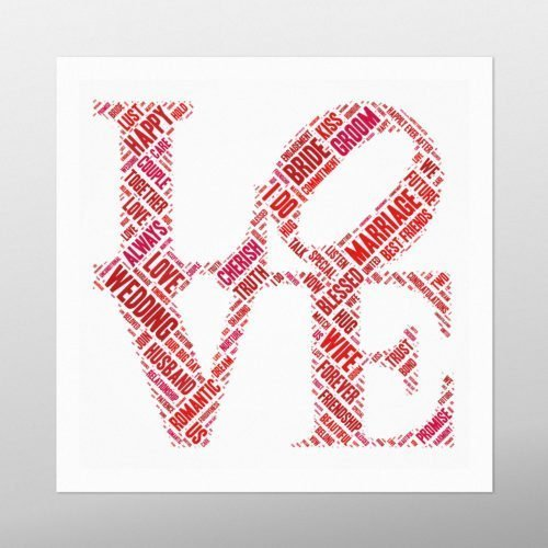 Love Sculpture | wordbird.ie | Word Art Posters