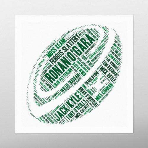 Rugby Ball - Ireland's Greatest | wordbird.ie | Word Art Examples