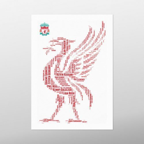 Liverpool Legends | wordbird.ie | Word Art Print