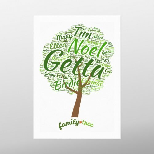 Family Tree | wordbird.ie | Word Art Prints