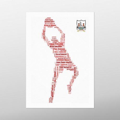 Cork Football Legends with Crest | wordbird.ie | Word Art Prints