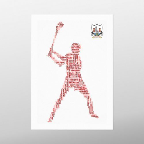 Cork Hurling Legends with Crest | wordbird.ie | Word Art Prints