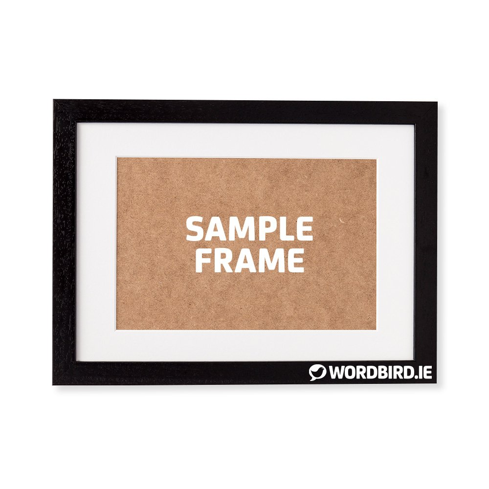 Sample Black Rectangle Landscape Frame