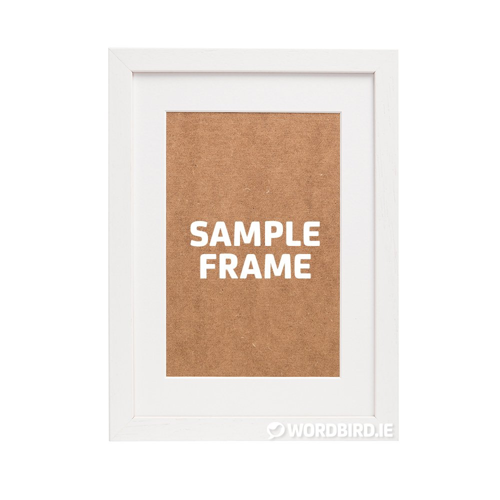 Sample White Rectangle Frame