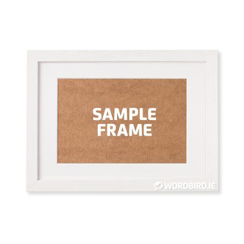 Sample White Rectangle Landscape Frame