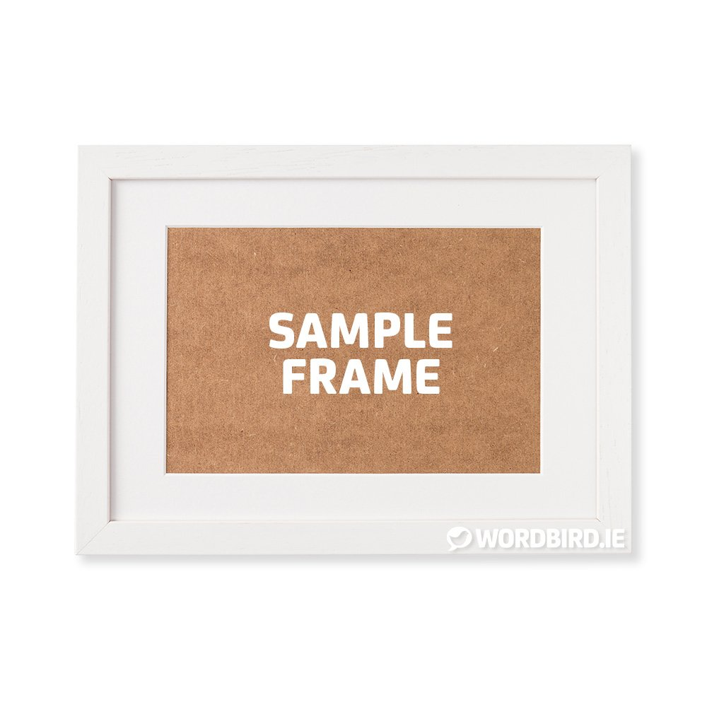 Sample White Rectangle Landscape Frame