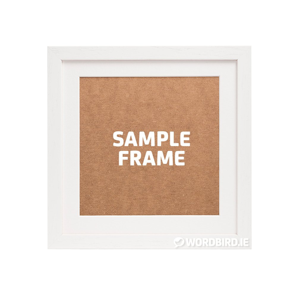 Sample White Square Frame