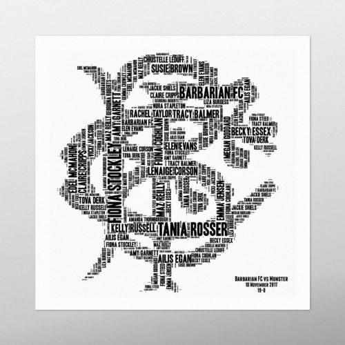 The Barbarians | wordbird.ie | Word Art Prints