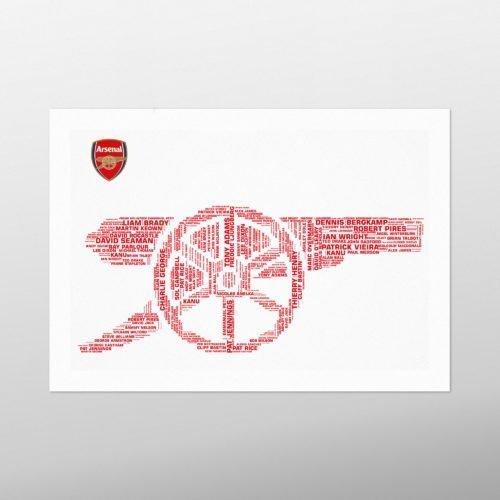 Arsenal Legends | wordbird.ie | Birthday Gift | Word Art Examples