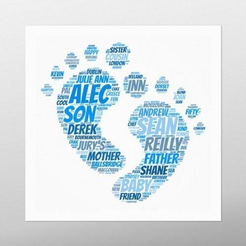 Baby Feet | wordbird.ie | Word Art Sample