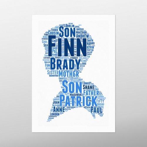 Boy   wordbird.ie   Word Art Print