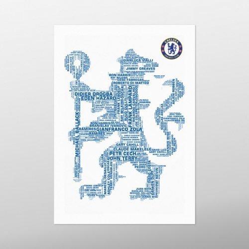 Chelsea Legends logo | wordbird.ie | Football Word Art Print