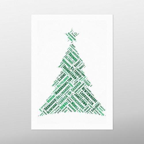 Christmas Tree | Leitrim | wordbird.ie | Word Art Prints
