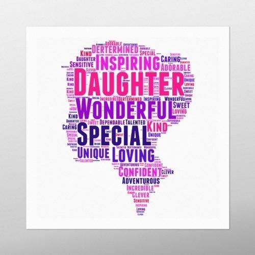 Daughter   wordbird.ie   Word Art Print