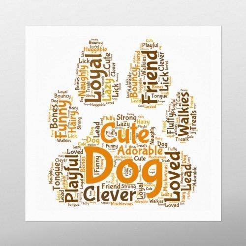 Dog Paw | wordbird.ie | Word Art Print