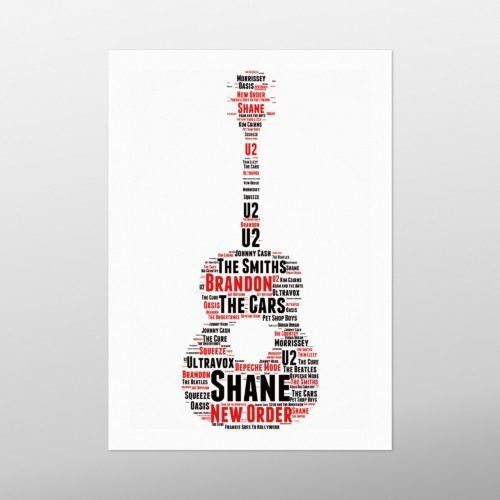 Guitar | wordbird.ie | GAA Word Art Print