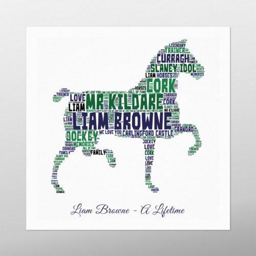 Horse | wordbird.ie | Birthday Gift | Word Art Examples