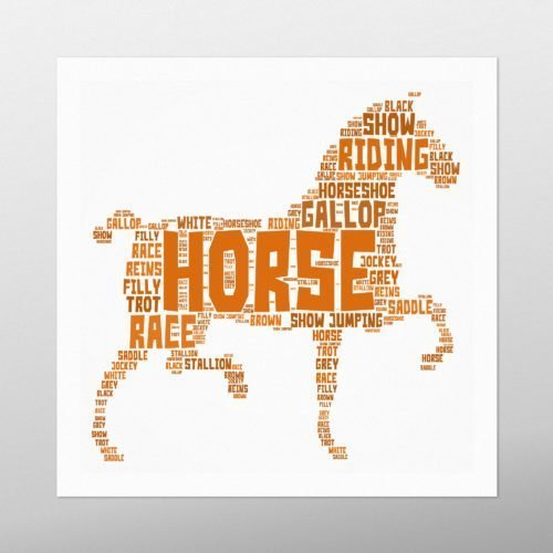 Horse | wordbird.ie | Picture Made Out Of Words