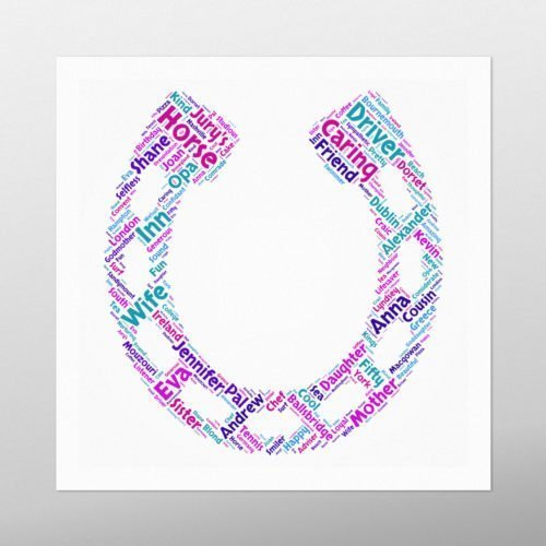 Horse Shoe | wordbird.ie | Word Art Design