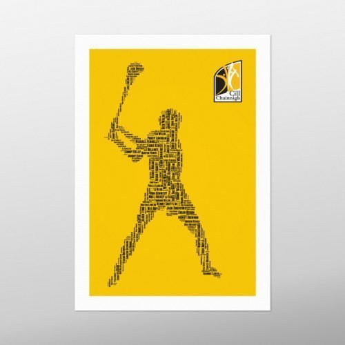 Kilkenny Legends | wordbird.ie | Word Art Posters