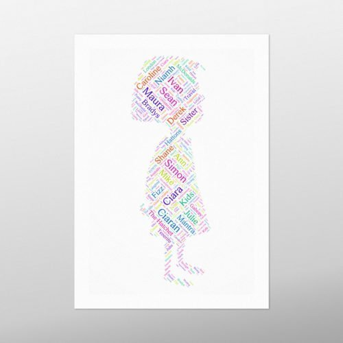 Little Girl | wordbird.ie | Word Art Print