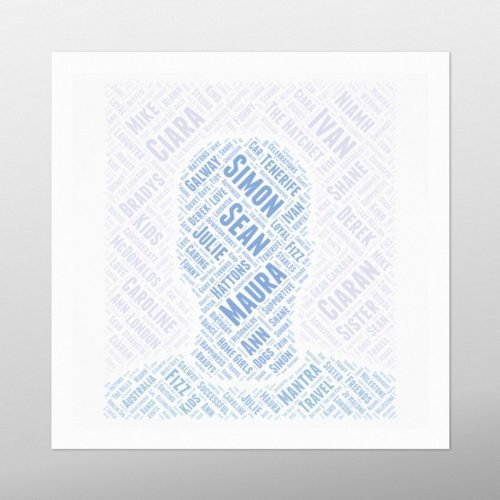 Male Head | wordbird.ie | Picture Made Out Of Words