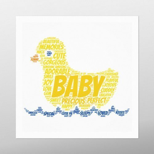 Rubber Duck | wordbird.ie | Word Art Ideas