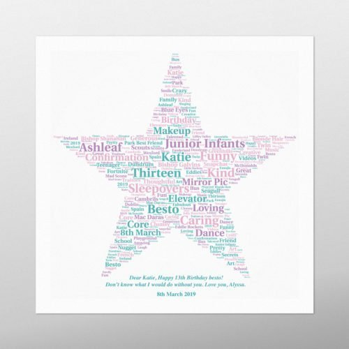 Star | wordbird.ie | Word Art Prints