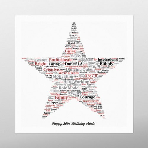 Star | wordbird.ie | Word Art Samples