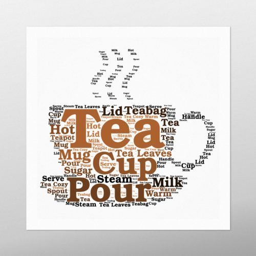 Tea Cup | wordbird.ie | Word Art Samples