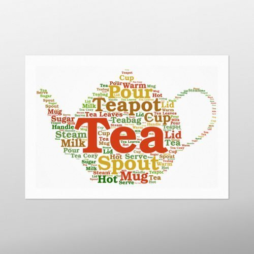 Tea Pot | wordbird.ie | Word Art Samples