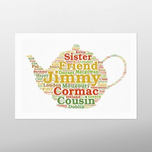 Tea Pot | wordbird.ie | Word Art Prints