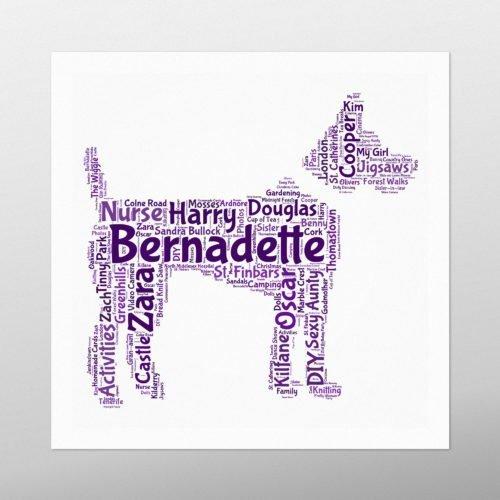 Terrier Dog   wordbird.ie   Word Art Print