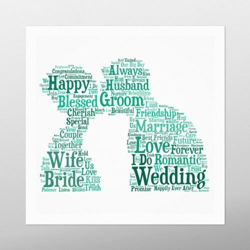 Couple Kissing | wordbird.ie | Picture Made Out Of Words