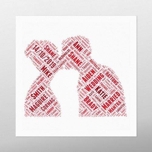 Couple Kissing | wordbird.ie | Word Art Ideas
