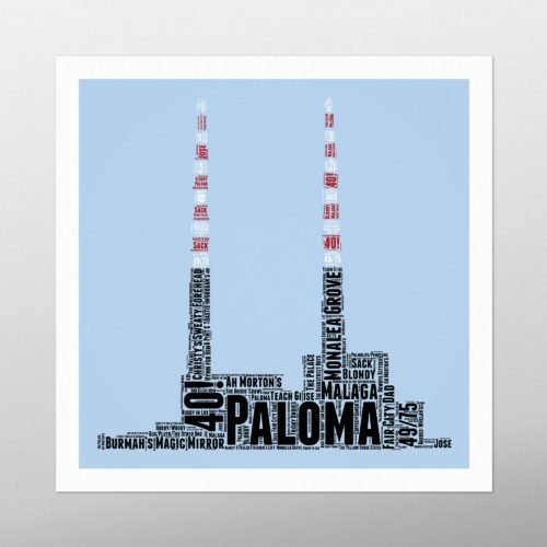 Poolbeg | Wordbird.ie | Picture Made Out Of Words