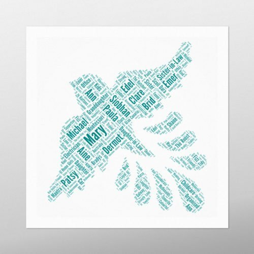 Bird in Flight | wordbird.ie | Word Art Prints