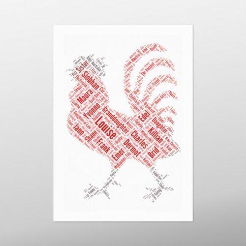Cockerel   wordbird.ie   Word Art Prints
