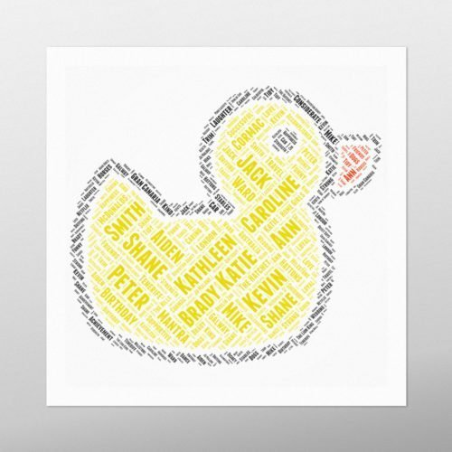 Duckie | wordbird.ie | Word Art Examples