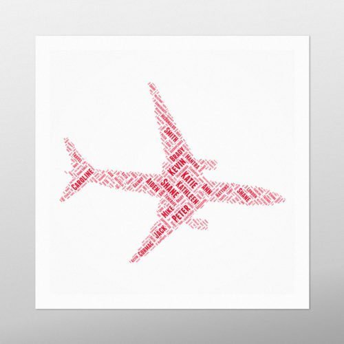 Aeroplane | wordbird.ie | Irish Word Art Prints