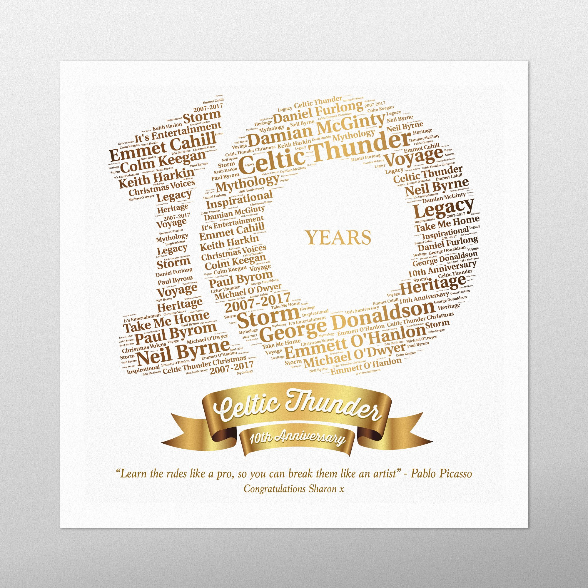 Anniversary | wordbird.ie | Irish Word Art Prints
