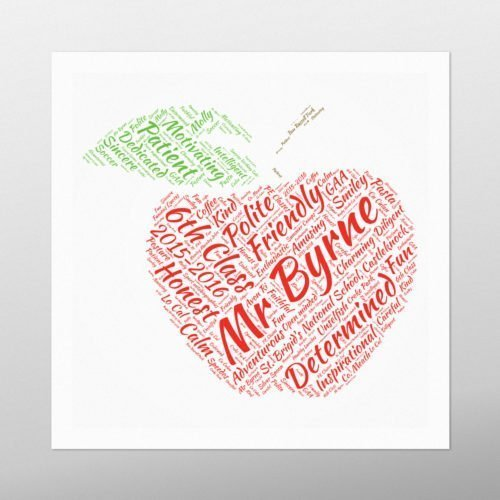 Apple | Wordbird.ie | Word Art Prints | Word Clouds