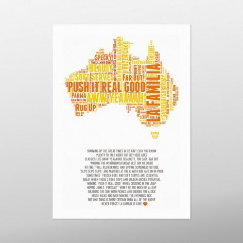 Australia | wordbird.ie | Word Art Pictures