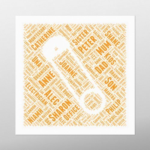 Baby Pin in Square | wordbird.ie | Word Art Posters