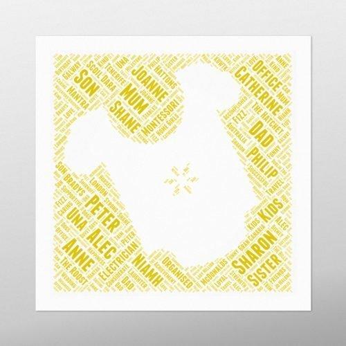 Babytop in Square | wordbird.ie | Word Art Posters