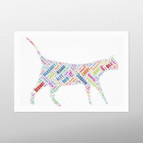 Cat Walking | wordbird.ie | Word Art Prints & Artworks