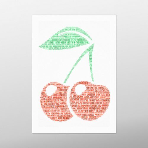 Cherry | Wordbird.ie | Word Art Prints | Word Clouds