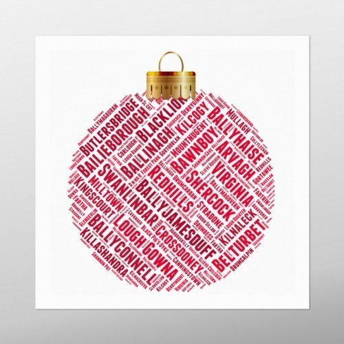 Christmas Bauble | wordbird.ie | Word Art Posters